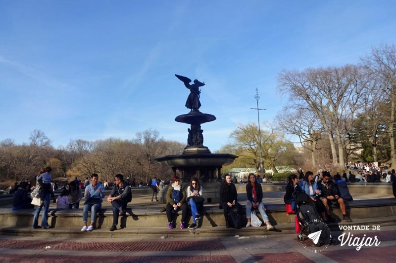 Nova York Central Park - Fonte Bethesda Terrace