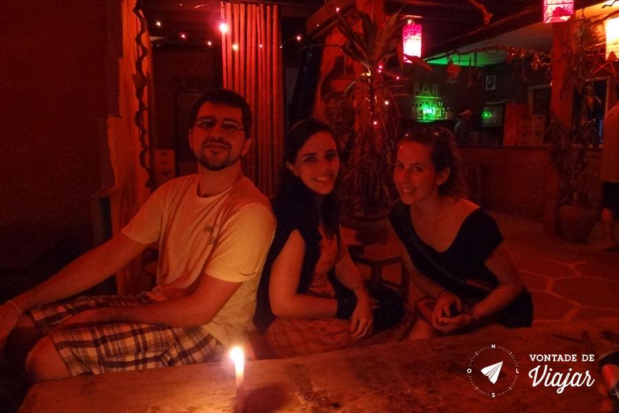 Rio Mekong - Hiver Bar o unico bar de Pakbeng Laos