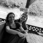Rio Mekong - Nanda e Leticia no barco