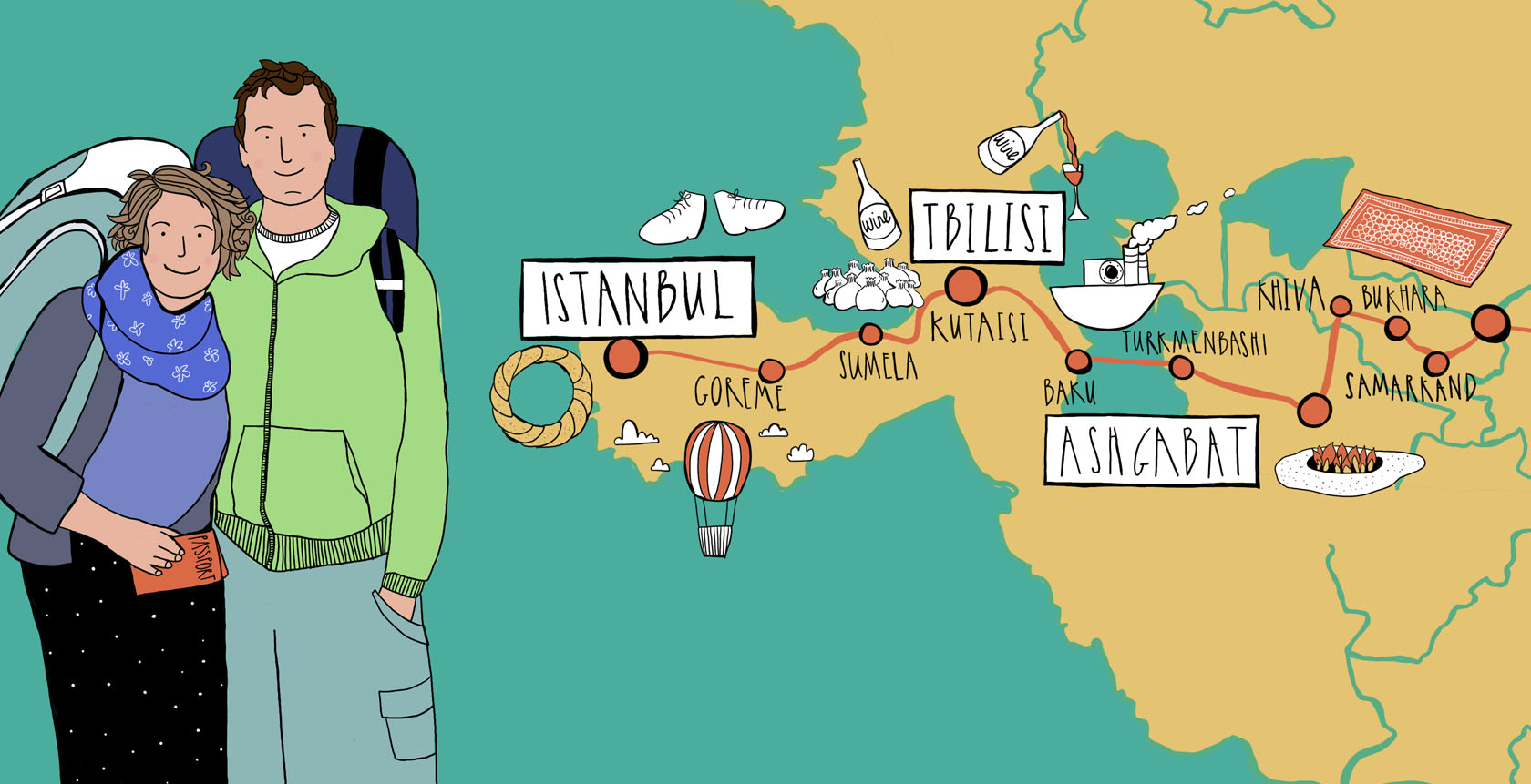 They Draw and Travel - Eles viajam e desenham - Mapas ilustrados