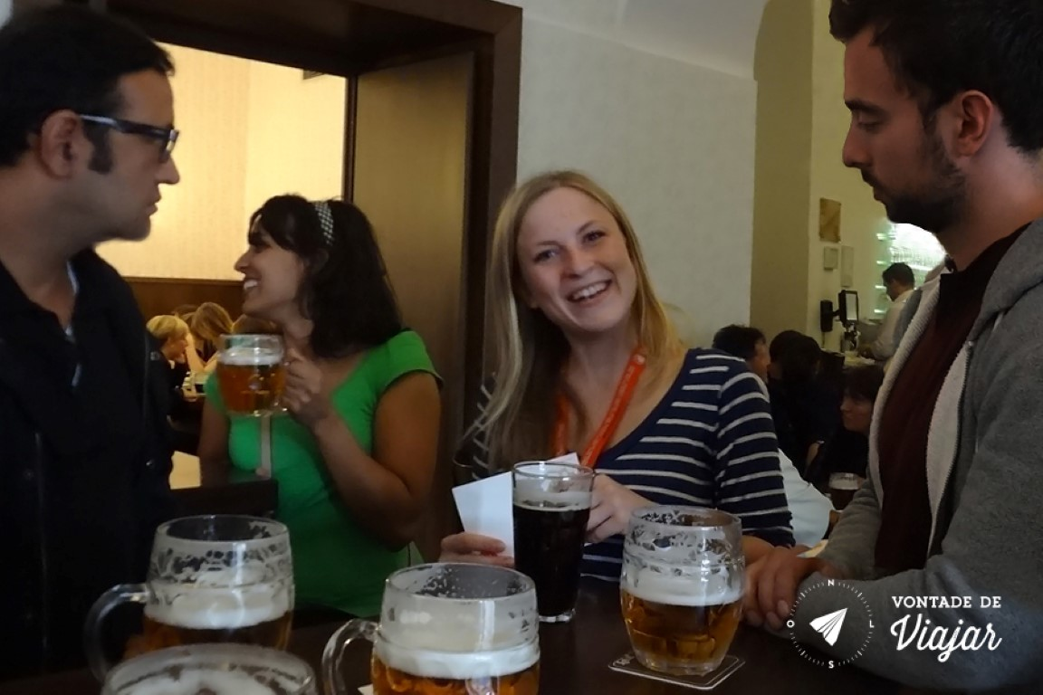 Cervejas tchecas - Nossa guia Catarina