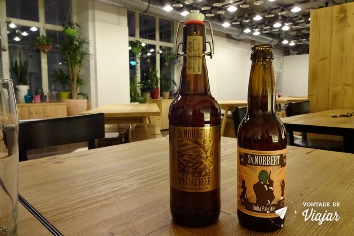 Cervejas tchecas - A premiada Amber Ale da St Norbert produzida no Monasterio Strahov