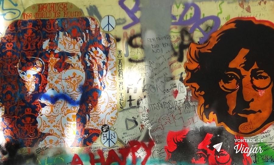 Lennon Wall - Desenhos de John Lennon em Praga