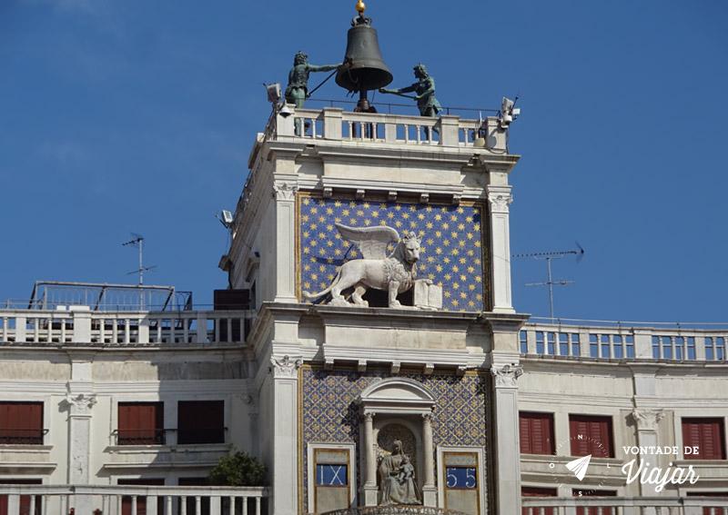 Italia - Torre do Relogio de Veneza Leao Alado
