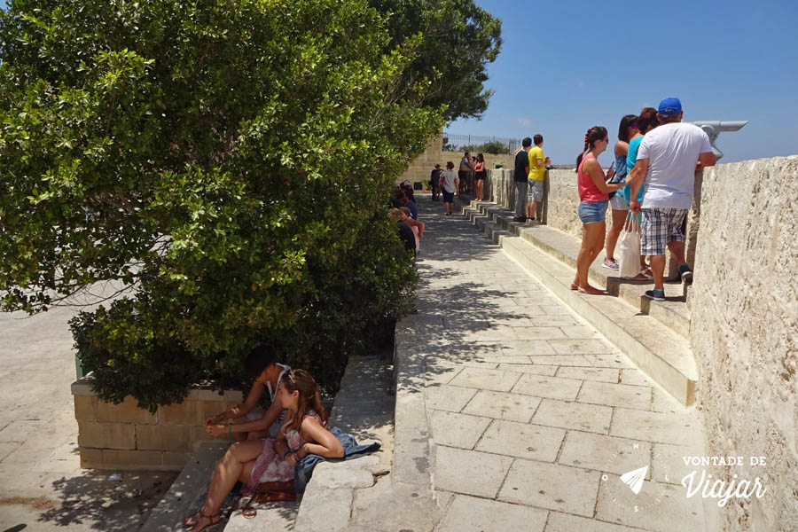 Mdina de Malta - Vista da Bastion Square Mdina